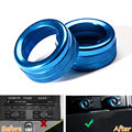2x New Aluminum Volume Whirling Button Decoration Blue Trim Fit For Porsche Macan Cayenne Panamera Car-styling