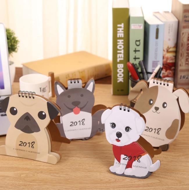 Calendar 1 Pcs Lovely Dog Calendar 2018 Calendars Desk Calendar Office School Stationery Supplies 2018 Calendar