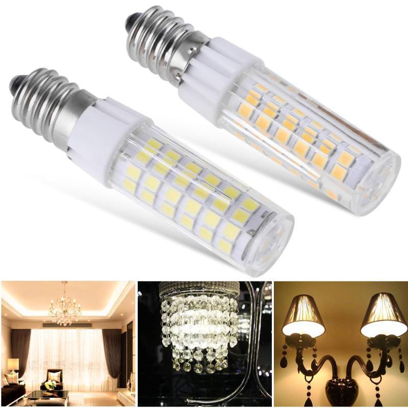 220V Mini E14 LED Bulb 2835 SMD 5W 51LEDs 75LEDs Corn Lamp PC Cover LED Spot light Replace Halogen Chandelier Pendant Light