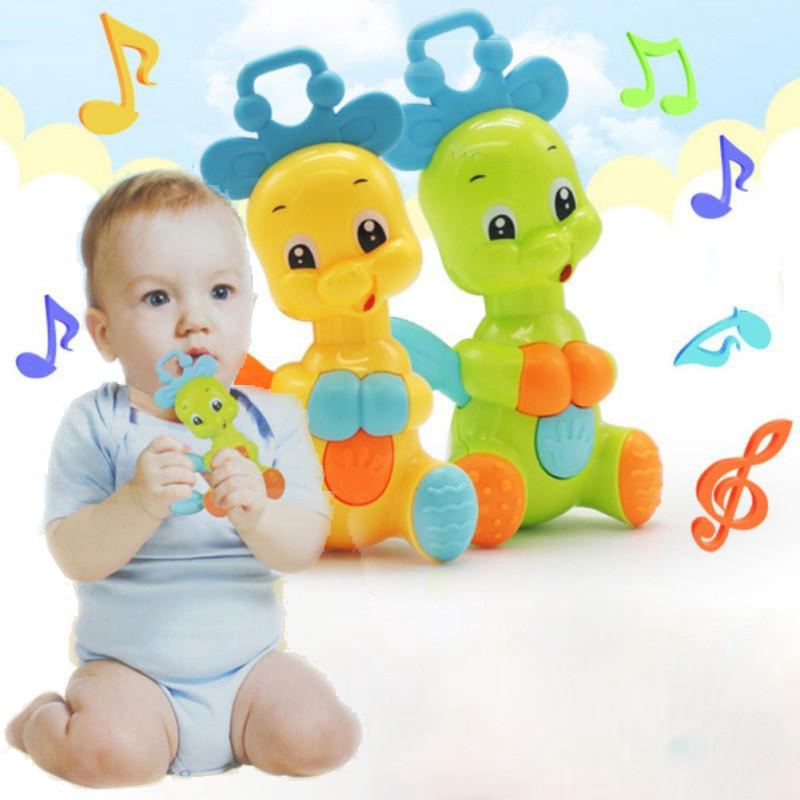 Baby Toys 0-12 Months Rattle Hand Knocking Bell Toy Rattles Develop Baby Intelligence Activity Grasping Toy Hand Bell Teether