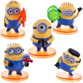 2017 new minions 5pcs/set action figure anime 7cm doll christmas gifts juguetes model kids toy hot sale free shipping