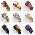 Homens de Algodão Colorido Floral Paisley Gravata Narrow Skinny Tie Casual Dos Desenhos Animados New BWTYY0064
