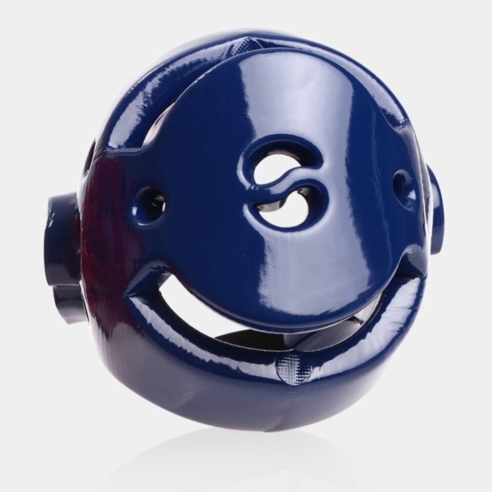 Дети/взрослых мужские/женские тхэквондо шлем красные, синие наполовину покрыт головные уборы Санда/Карате/Муай Тай/ boxeo/Бокс защиты головы