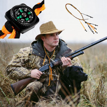 4 in 1 Multifunction Travel Kit Outdoor Camping LED Torch Compasses with 16m Hunting Sling Max Bear 140kg