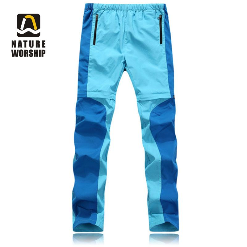 Outdoor Summer Spring Men Women Hiking Quick-Dry Pants Thin Breathable Slim Trousers Climbing Fishing Sports Trousers Detachable esdy 619 men s outdoor sports climbing detachable quick drying polyester shirt camouflage xxl