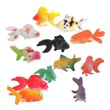 Plástico Animais Brinquedo 12 pcs Colorido Peixinho Peixinho Artificial Modelo de Construção Kits Brinquedos Suprimentos Acessórios Presentes Criativos