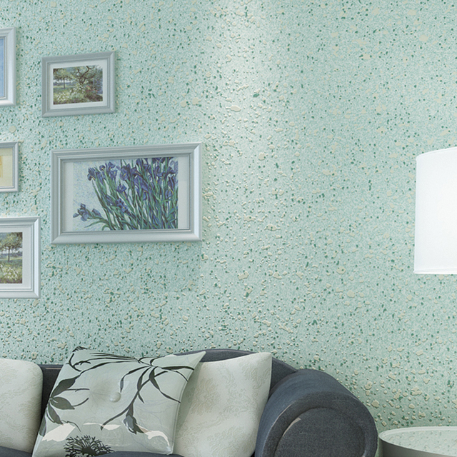Grün Einfarbig Granulat Wand Papiere Non Woven Beflockung Tapeten ...