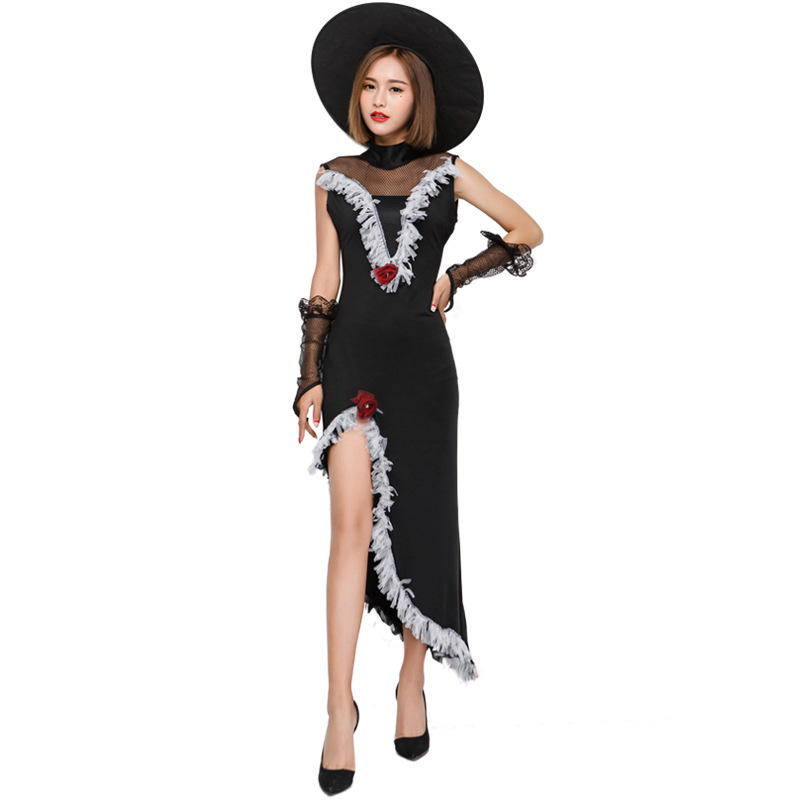 costumes for adults black medieval comic witch costume women hat fancy dress halloween costumes for women plus size vampire sexy