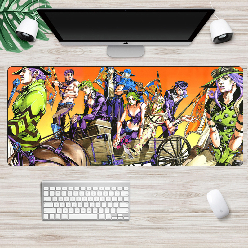 SIANCS Anime Jojo Bizarre Adventure Gaming MousePad  Laptop PC Computer Large Mouse Pad Locking Edge Rubber Unique Desk Mat