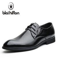 Blaibilton Brand Business Classic Office 100 Genuine Leather Elegant Formal Dress Men Shoes Oxfords Wedding Mens