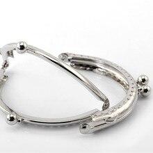 10Pcs Silver Tone DIY Metal Clutch Coin Purse Bag Arc Frame Kiss Clasps Lock Handles 8.5x6cm