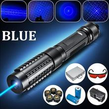Best Buy Portable 1000mw-3000mw Powerful Professional 1000m High Power Focusable Blue Laser Lazer Pointer Pen Set