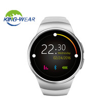 Kingwear KW18 Smart Watch Bluetooth Heart Rate Monitor Intelligent smartWatch Support SIM TF Card for apple samsung Phone