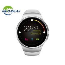 Kingwear KW18 smartWatch Relógio Inteligente Monitor de Freqüência Cardíaca Do Bluetooth Inteligente SIM Apoio TF Cartão para a apple samsung Telefone
