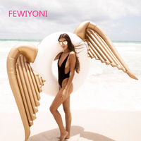 FEWIYONI 240 * 240cm inflatable angel wings swimming pool float swimming float swimming ring wings swimming pool pool toys