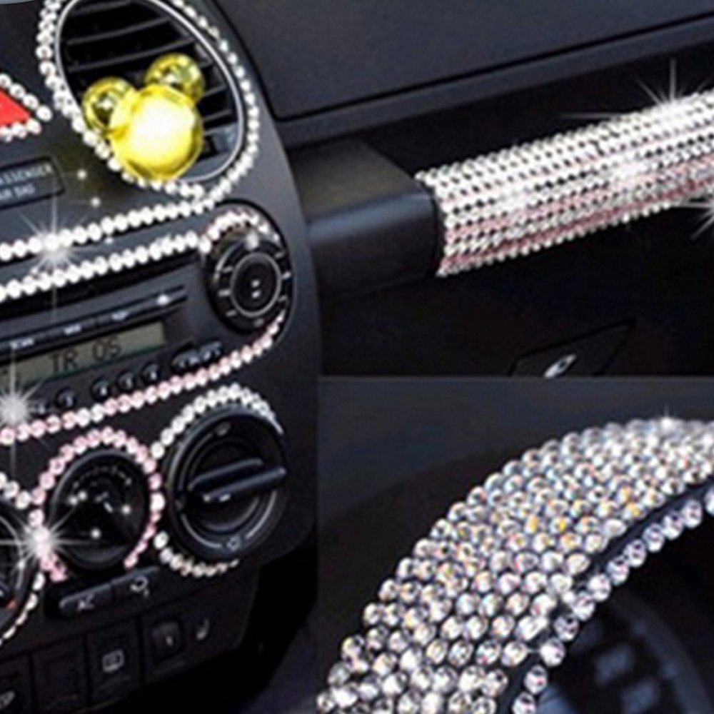 504Pcs Silver Crystal Diamond Car Stickers Mini Cooper Accessories PC/Phone Automobiles Exterior Interior Decoration For Ford Vw