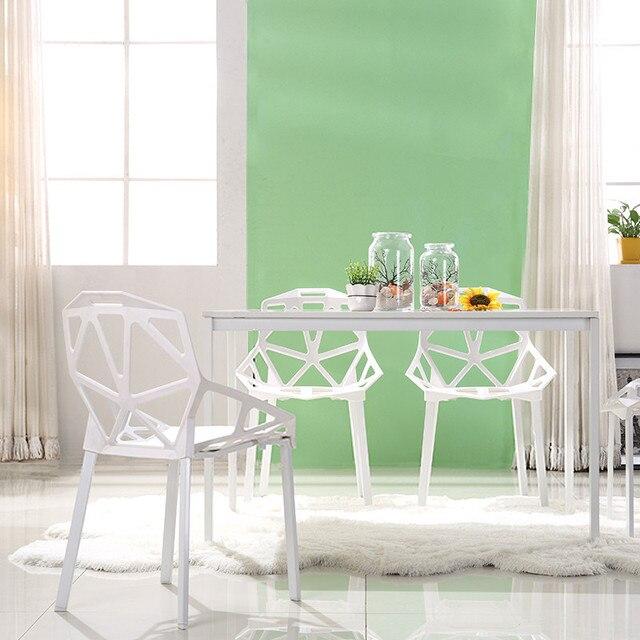 Moderne Minimalistischen Kunststoff Stuhl Nordic Mode Möbel Esstisch Stuhl Geometrische Hohl Outdoor Negotiating Freizeit Stuhl-in Esszimmerstühle aus Möbel bei