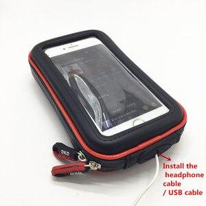 Image 5 - Wasserdichte Zipper Fall mit 1 zoll Ball + 6,5 cm Doppel Buchse Arm für 1 Zoll Ball Basen + hinten Spiegel Halterung für Smartphones