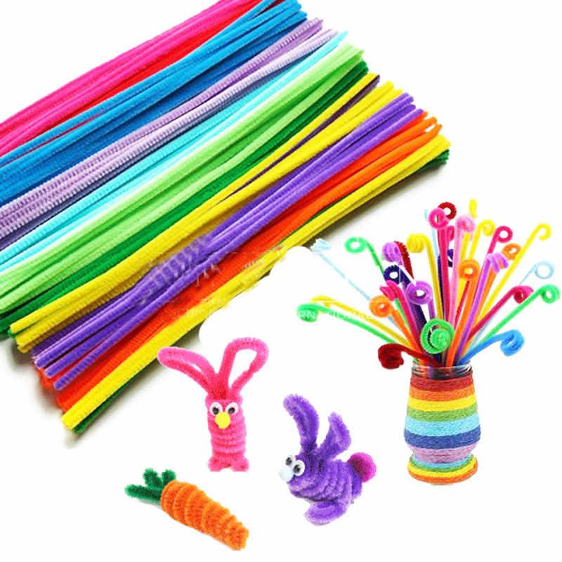 100 шт./компл. синели стебли Цвет ful палочки детские игрушки детский сад DIY ручной работы Материал творческие развивающие игрушки разные цвета