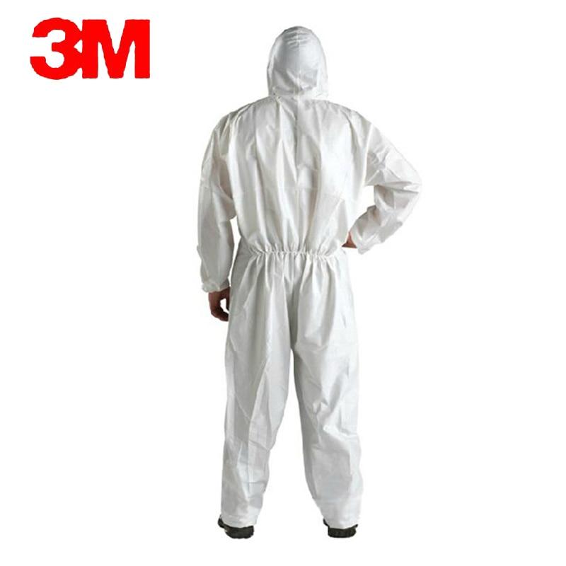 3M 4510White non-woven tyg Coverall Kläder Antistatisk och - Säkerhet och skydd - Foto 3