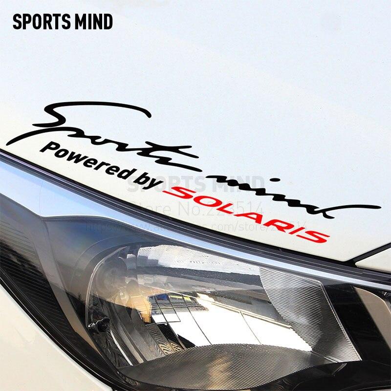 2 шт. спортивный ум автомобиля-Стайлинг автомобиля лампы для бровей Спорт Развлечения автомобиля Стикеры для Hyundai Solaris 2011-2017 автомобильные а...