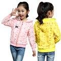 2017 Весна Kid девушка тонкий срез любовь куртка дети мода удобная рубашка одежда пальто