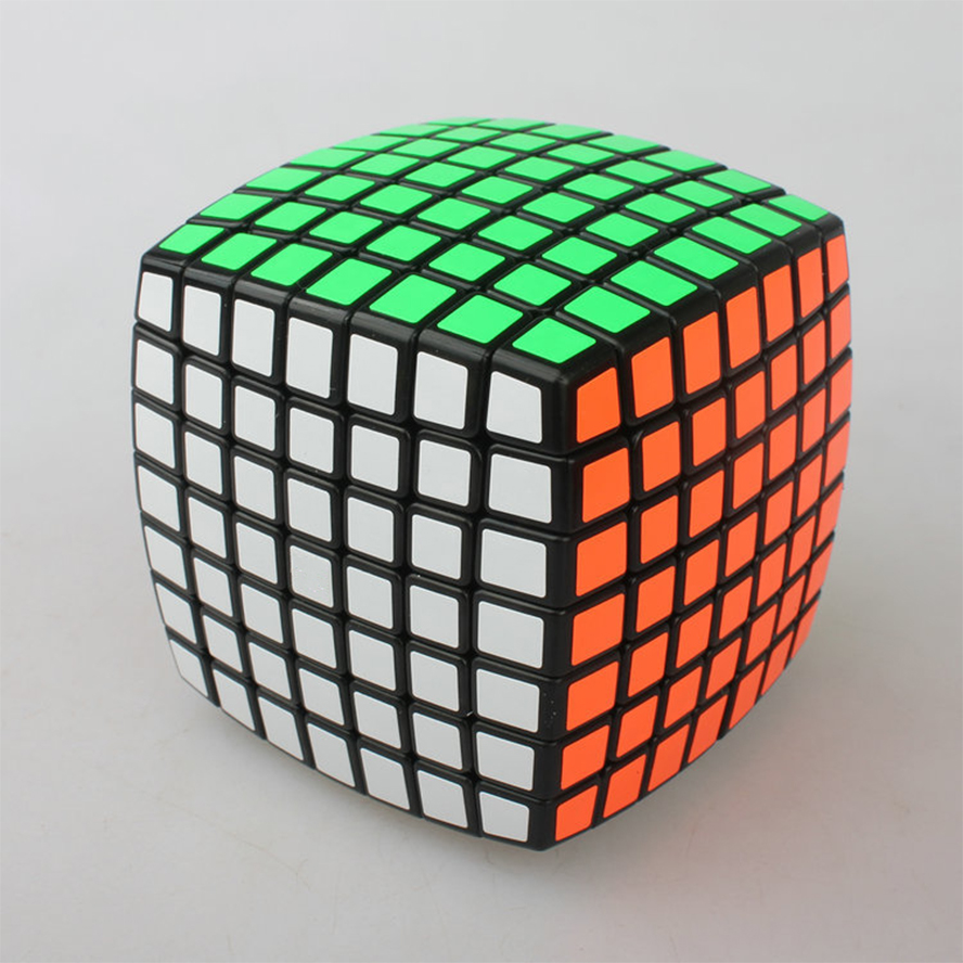 7 Layers Bread Shape Professional Cube Black PVC Sticker Speed Puzzle Cube 7x7x7 Training Puzzle Cube Toy Cubo Magico qiyi megaminx magic cube stickerless speed professional 12 sides puzzle cubo magico educational toys for children megamind