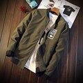 M-3XL de Pie Cuello de la Chaqueta Militar de Los Hombres Del Ejército de Negocios Thin J3157 Bomber Jacket Hombres Veste Homme Chaquetas Hombre