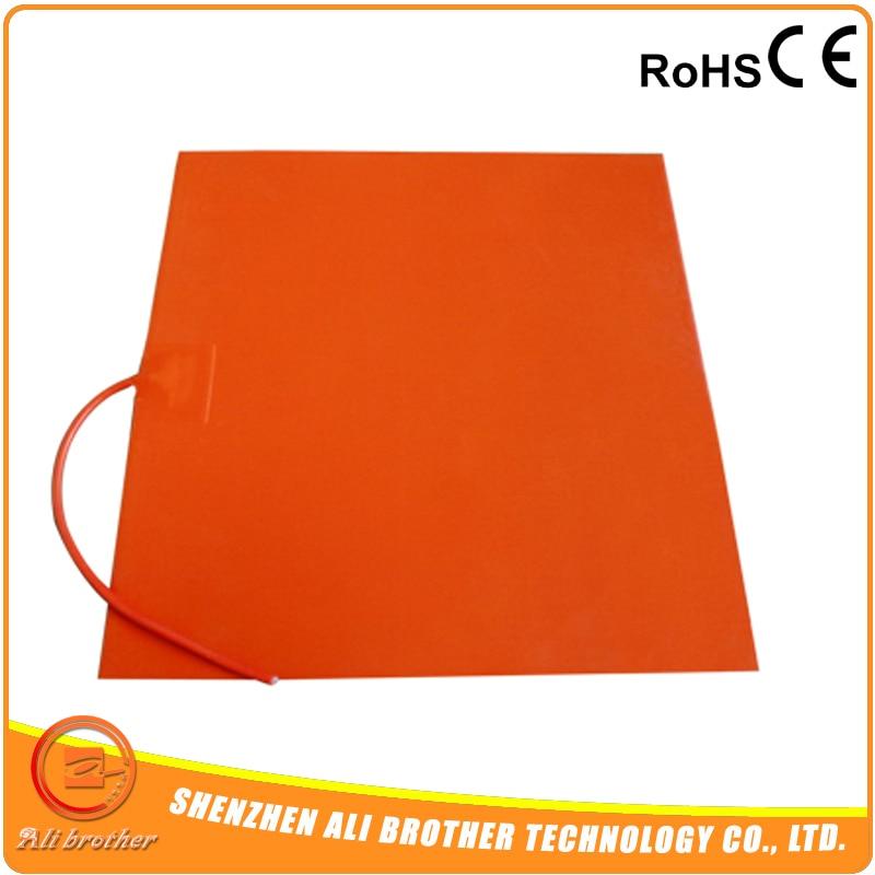 """Высокое качество CE/TUV сертификат гибкий силиконовый 12v нагревательный элемент """" на 6"""" для 3d принтера 100w"""