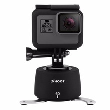 SHOOT 360 Degree 60-minutes Delay Timer Time Lapse Delay Stabilizer Rotating Head Camera Accessories For GoPro Drop Shipping