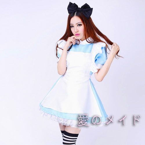 Alice in Wonderland Lolita dress costume Sexy Nice maid costume Girls Halloween Cosplay Costumes-in Lolita Dresses from Novelty u0026 Special Use on ...  sc 1 st  AliExpress.com & Alice in Wonderland Lolita dress costume Sexy Nice maid costume ...