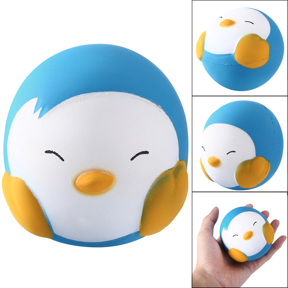 Squishies Kawaii Cartoon Penguin Slow Rising Doll Scented Stress Reliever Toy Squeeze Stress Ball Antistress  антистресс