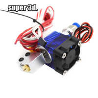 3D Printer All metal Volcano J-head Hotend Remote Bowden Extruder 12/24V with Cooling Fan for 1.75mm 0.6mm 0.8mm Nozzle Diameter