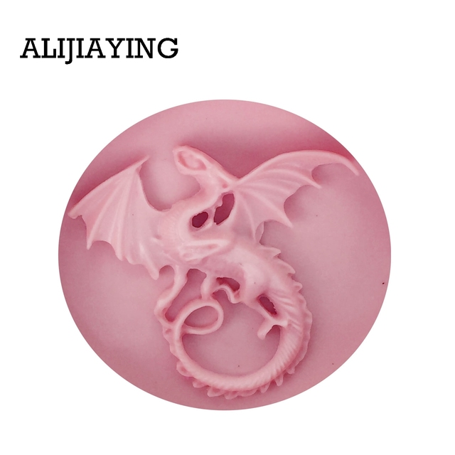 DY0043 Flying dragon cartoon silicone molds DIY cake decorating tools fondant Chocolate Molds Resin Clay Soap Mold