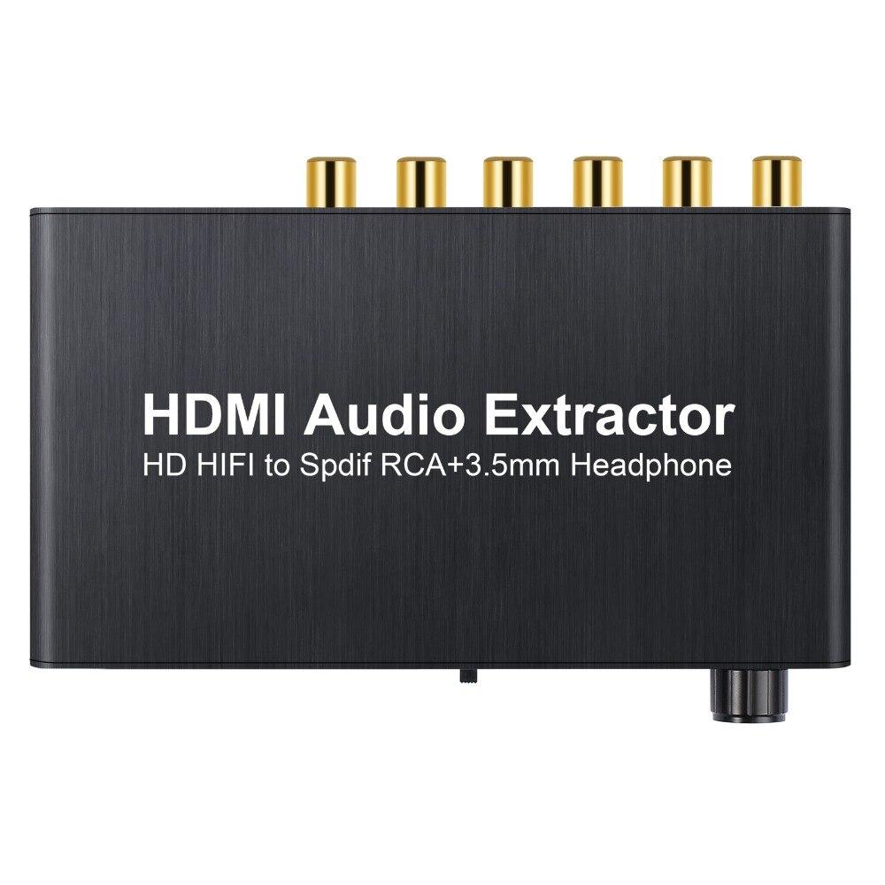 Proster4K 3D avec contrôle du Volume extracteur Audio HDMI vers HDMI avec optique Toslink analogique 5.1CH 2.0CH séparateur Audio pour Blu-Ray