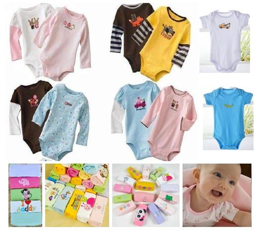 04b5fb17326f Baby Rompers Newborn Long Sleeve Cotton Jumpsuit Boys Girls ...