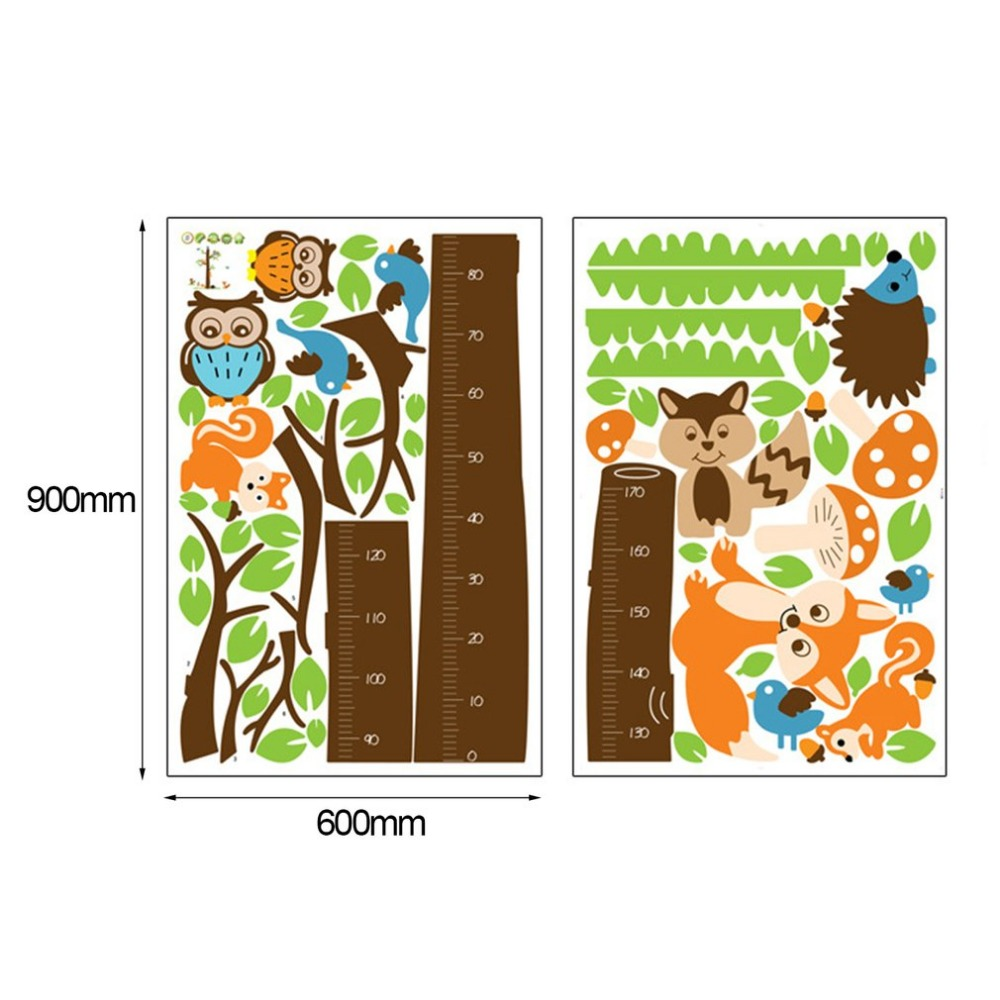 Cute owl squirrel bird cartoon height measure wall stickers animal cute owl squirrel bird cartoon height measure wall stickers animal tree for kids rooms growth chart children baby nursery rooms in wall stickers from home geenschuldenfo Choice Image
