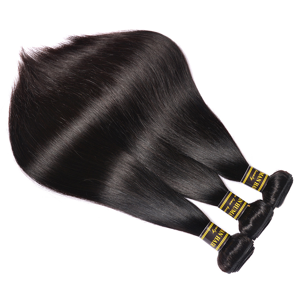 Beauty On Line Brazilian Straight Human Hair 3 Bundles Deal 8-28 inch Hair Weave Natural Color Free Shipping Remy Hair