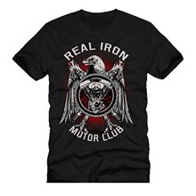 REAL IRON MOTOR CLUB mashup dtg mens t shirt tees NEW 2018New T Shirts Funny Tops Tee New Unisex Funny Tops new t shirts funny tops tee new unisex funny topsno more heroes fire fighte new york la ny mashup dtg mens t shirt tees