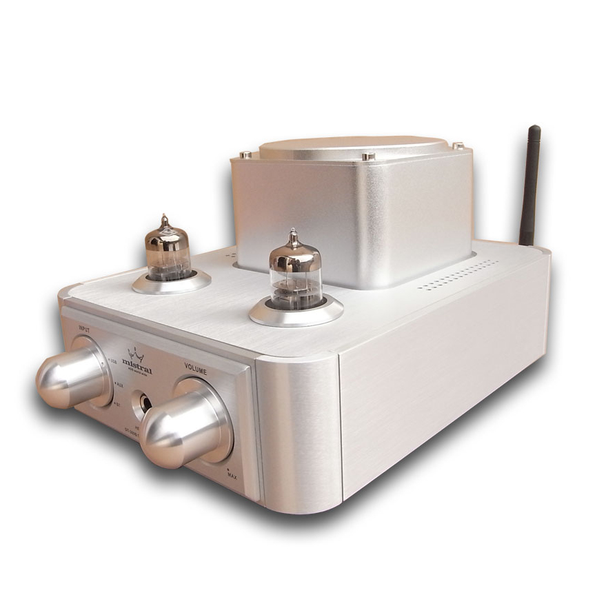 Mistral DT-309B Integrado Amplificador Valvulado Estéreo com Bluetooth 4.0, 24bit/192 kHz DAC, Fone De Ouvido Para Fora
