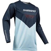Shimano Мужская рыболовная рубашка тонкая дышащая гигроскопичность быстросохнущая анти-УФ рыболовная одежда XS-5XL куртка мужская