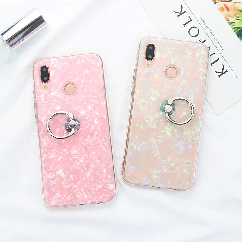 360 Rotating Ring Holder Conch Shell Case for Huawei P Smart Honor 7C 7A 9 10 7X 8X Mate 10 P20 Pro Lite Nova 3 3i Y9 2018 Cover