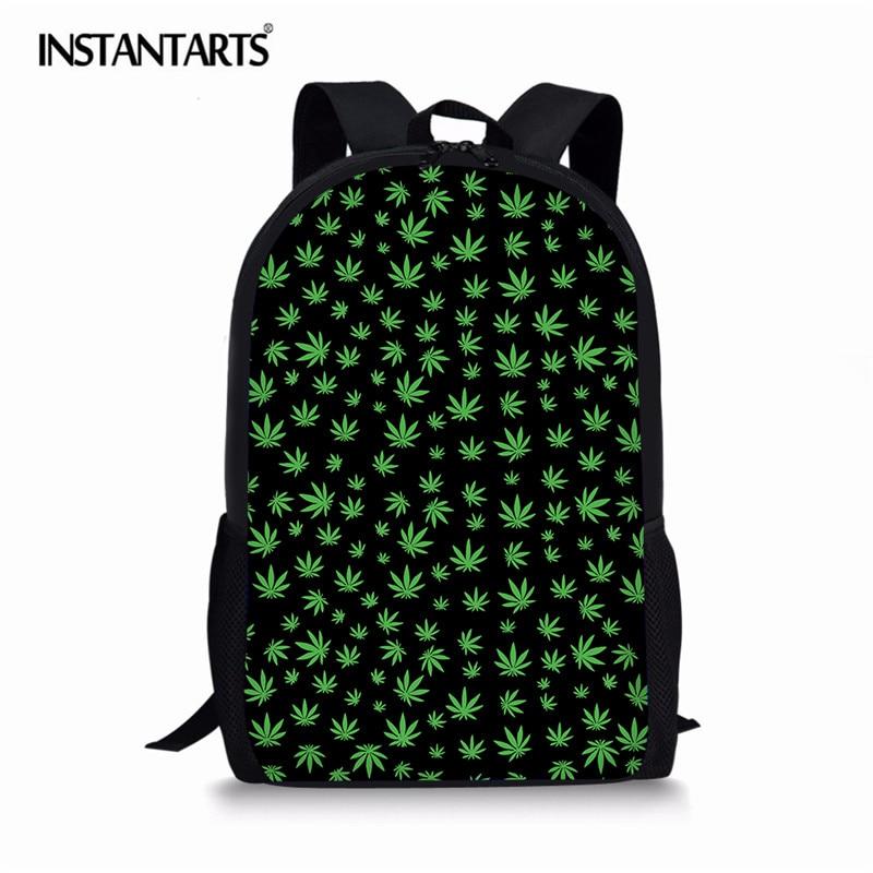 INSTANTARTS Fashion Backpack Children Schoolbag Back Pack Leisure Korean Ladies Knapsack Laptop Travel Bags For School Teens