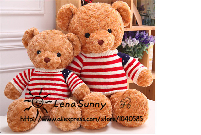 85cm Giant Teddy Bear Plush Toys ,American Flag Dress Bear Plush Toy, Girl  Valentine