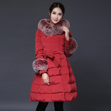 The high-end new winter style slim slim lengthy part dimension feminine down coat Y2