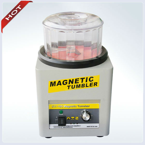 Machine à polir magnétique gobelet magnétique bijoux Machine et outils capacité 600g temps culbutant 0-60 min