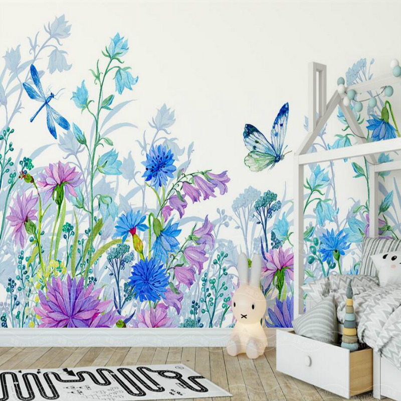 Custom 3d Wall Paper Wallpaper for Walls 3d Murals Background floral butterfly Wallpaper Bedroom Living Room Home Improvement custom photo 3d ceiling murals wall paper blue sky rose flower dove room decor painting 3d wall murals wallpaper for walls 3 d