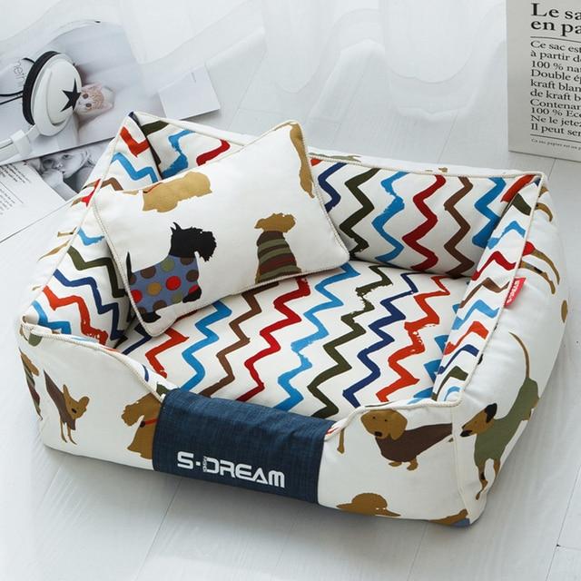 JORMEL Dog Bed Mat Kennel Soft Dog Puppy Pet Supplies Nest For Small Medium Dogs Winter Warm Plush Bed House Waterproof Cloth
