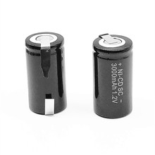 3/5/8 PCS High quality battery, rechargeable battery, SC 1.2 v battery with 3000 mah tab for electric tools цена и фото