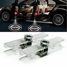 2 Pcs Car Door Light-Up LED Logo Projector Lights Accessories For Nissan Altima Maxima Titan All Cars Universal